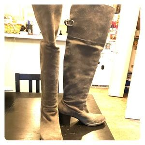Frye Lucinda slouch suede boot size 7.5